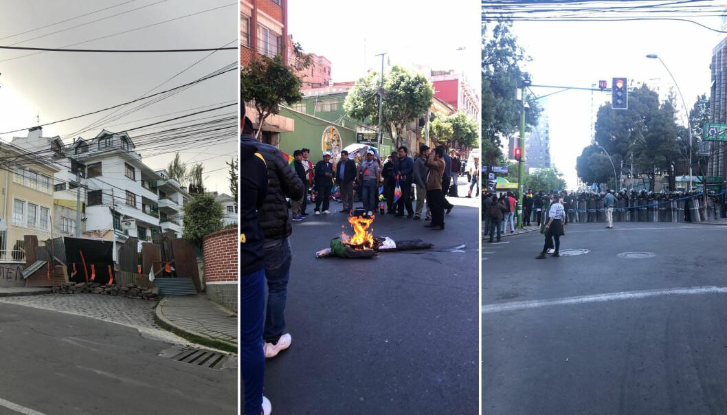 Situasjonen i Bolivia eskalerte utover høsten, og særlig etter at president Evo Morales gikk av. Alle foto: Silje Sæther