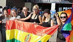 Silje Sæther (til v.) sammen med Tina Lægraid, Nora Hahn, Natalie Mac Lachlan, Kristine Hawkes og Anki Grøthe. Foto: Privat