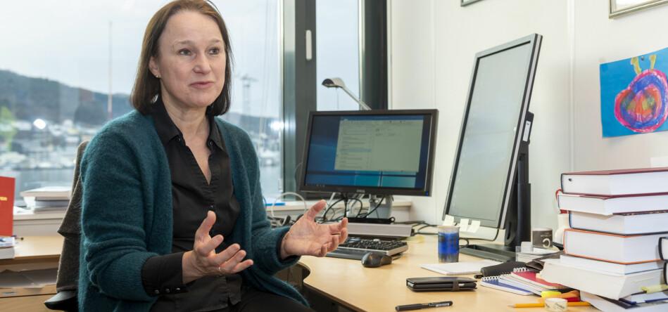 Ragna Aarli leder Granskingsutvalget. Saken fra UiO tok utvalget selv tak i, blant annet fordi den ene parten tok kontakt med en av de forskningsetiske komiteene. Foto: Tor Farstad