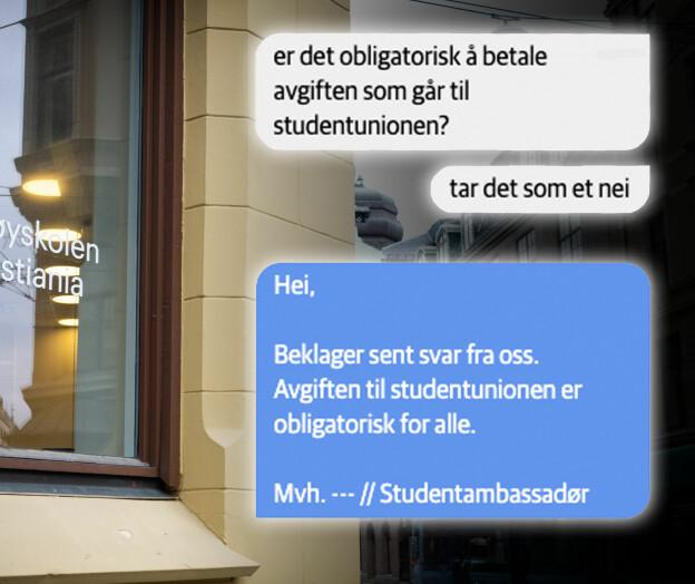 Høyskolen Kristiania: Frivillig avgift del av bindende studiekontrakt