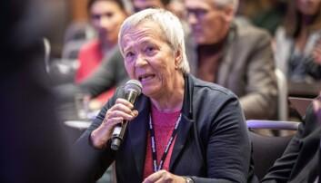 Kathrine Skretting, rektor ved Høgskolen i Innlandet, under UHR-konferansen 2019. Foto: Siri Øverland Eriksen