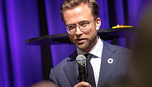 Digitaliseringsminister Nikolai Astrup (H) under UHR-konferansen 2019. Foto: Siri Øverland Eriksen