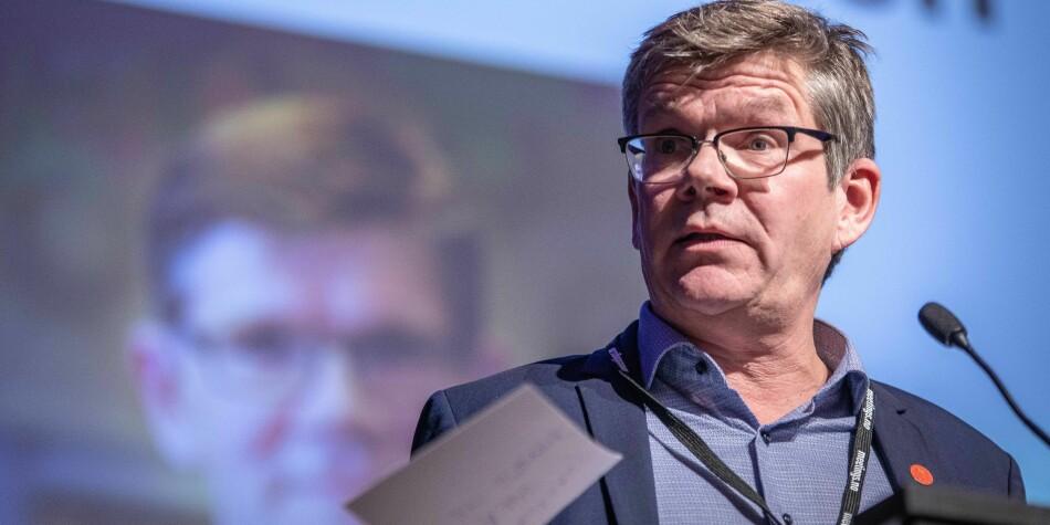 Rektor Svein Stølen ved Universitetet i Oslo, her på konferanse. Foto: Siri Øverland Eriksen
