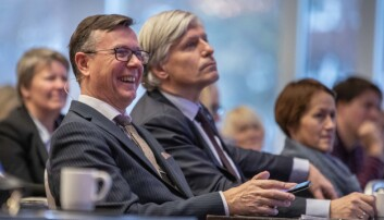 Dag Rune Olsen. Her sammen med Ola Elvestuen, klima- og miljøminister. Foto: Siri Øverland Eriksen