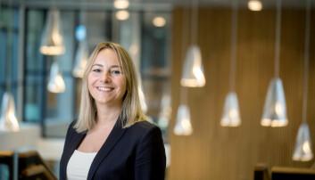 Prorektor for forskning ved Høgskulen på Vestlandet, Gro Anita Fonnes Flaten, er fornøyd med midlene fra Sparebanken Vest, som finansiere en ny professorstilling. Foto: Eivind Senneset/HVL.