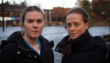 Hanna Gulli og Mille Thunem. <br>Foto: Mats Arnesen