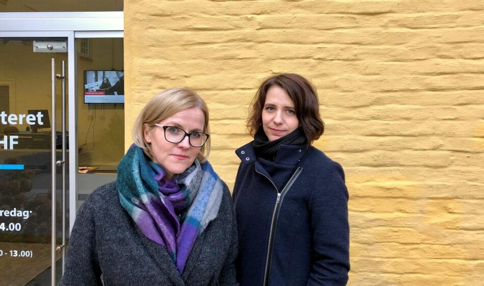 Ann-Kristin H. Gujord og Anna-Marie Kjøde Olsen er to av forskarane som har undersøkt språksituasjonen for internasjonale ved universitet og høgskular. Dei har funne ut norsk språk ikkje blir rekna som viktig i rekrutteringa. Foto: Njord V. Svendsen