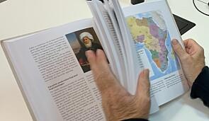 Boka Afrika er proppfull av kart, bilder og rammer.