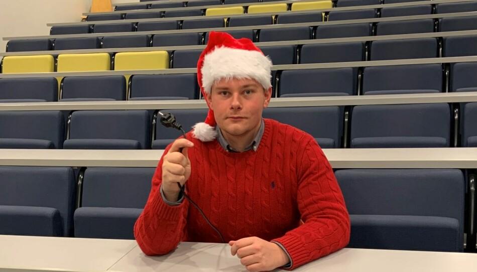 Joachim Børlie, leder av Studentorganisasjonen ved Universitetet i Stavanger.