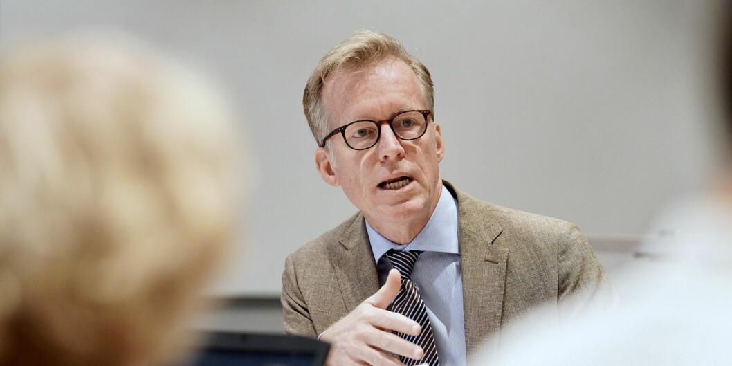 Rektor på OsloMet, Curt Rice. her fotografert på høstens første styremøte. Foto: Ketil Blom Haugstulen