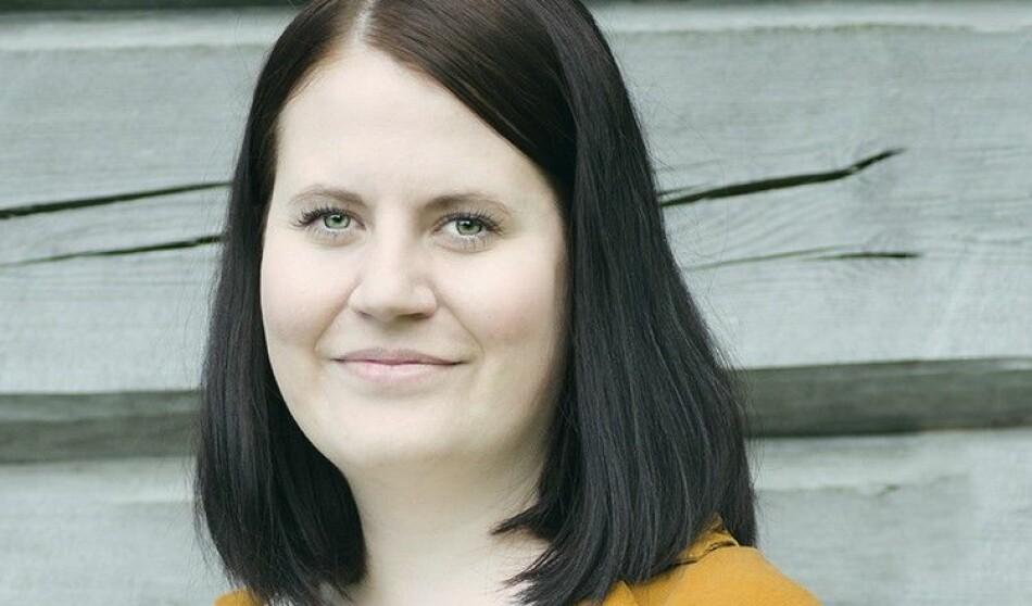 Kjersti Brevik Møller (28) legg partipolitikken på hylla og blir nytt studentombod ved Høgskulen på Vestlandet. Foto: Venstre