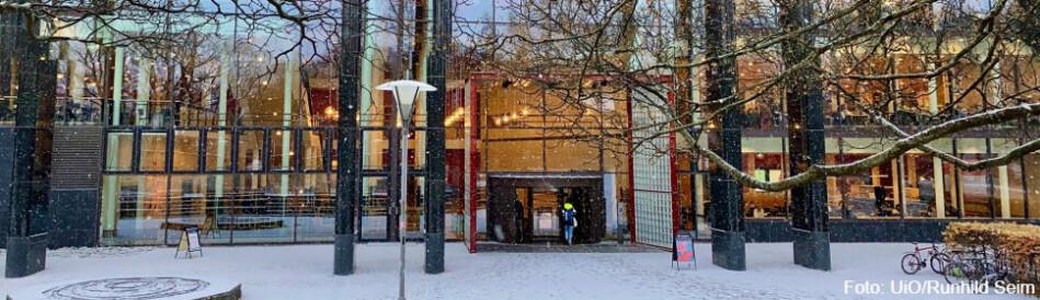 Ansattes styrerepresentanter ved Institutt for filosofi, idé- og kunsthistorie og klassiske språk (IFIKK) ved Universitetet i Oslo, er bekymret for framtiden til instituttet som de mener i praksis er konkurs. Illustrasjonsfoto fra HumSam-biblioteket: UiO/Ragnhild Seim