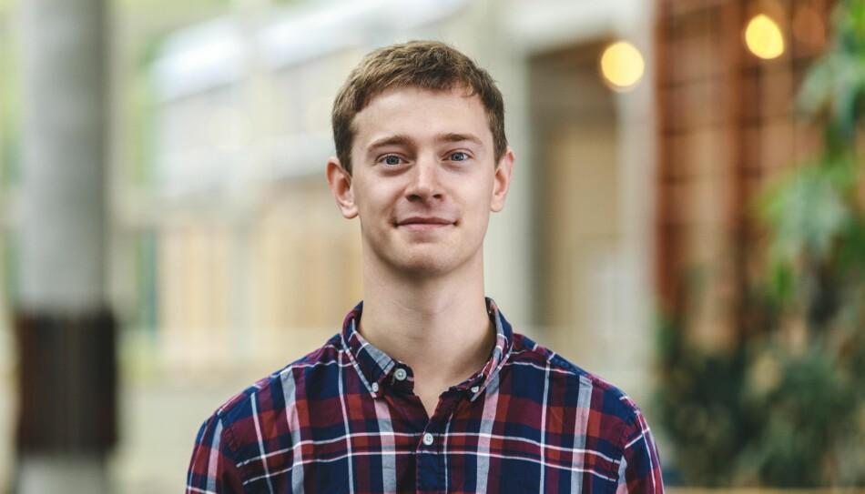 Torje Martnes, leder for Studentorganisasjonen i Innlandet. Foto: Alexander Eriksson