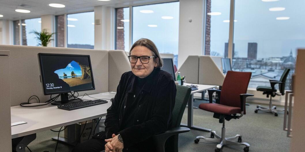 Fra 1. januar skal professor Ragnhild Hennum sitte her som dekan for Det jurdiske fakultet ved Universitetet i Oslo. Som første kvinne. Foto: Siri Øverland Eriksen