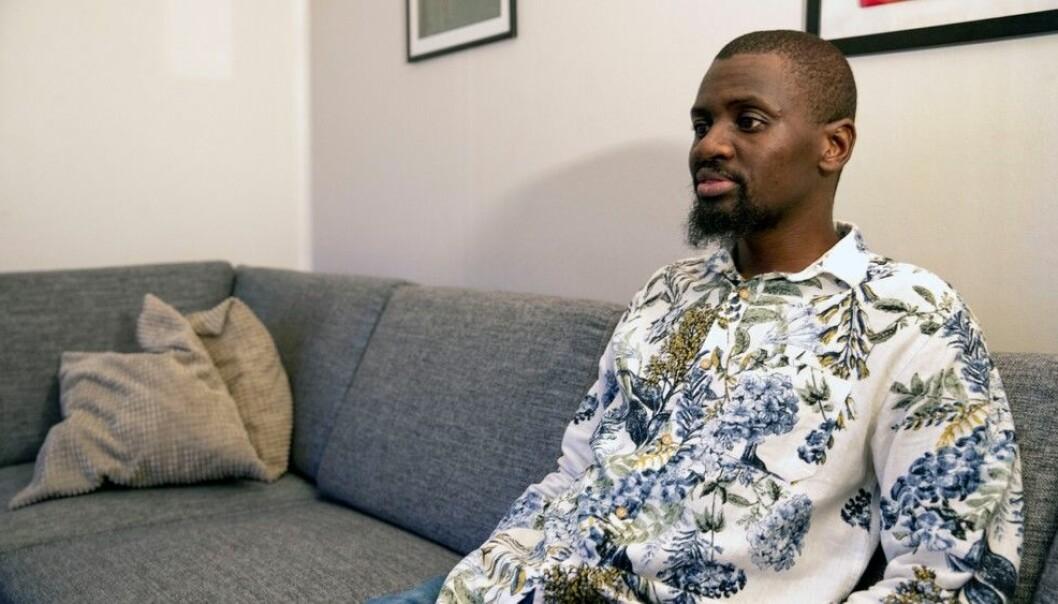 Bheki Dlamini blir truleg sendt ut av landet fordi han ikkje klarar å bevisa at hans sørafrikanske tilknyting er falsk. Foto: Even Nordheim Johansen, NRK