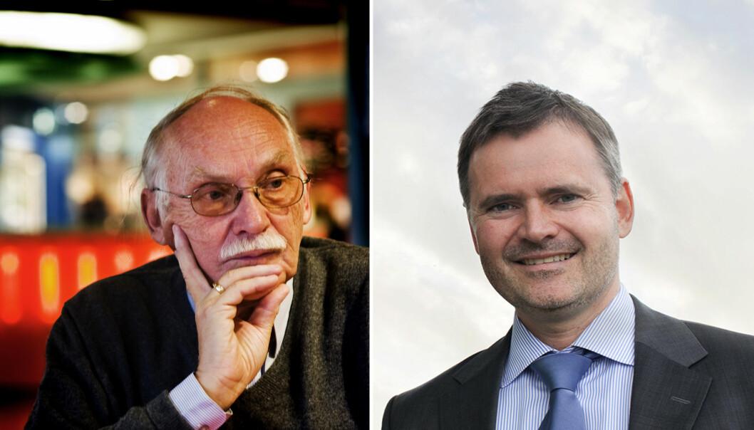 Rolf Skår (til venstre) og Hans Ivar Robinson er blant de som har investert i flere selskaper som TTO-ene har vært med å starte opp. Foto: Per Ståle Bugjerde og Birk Venture.