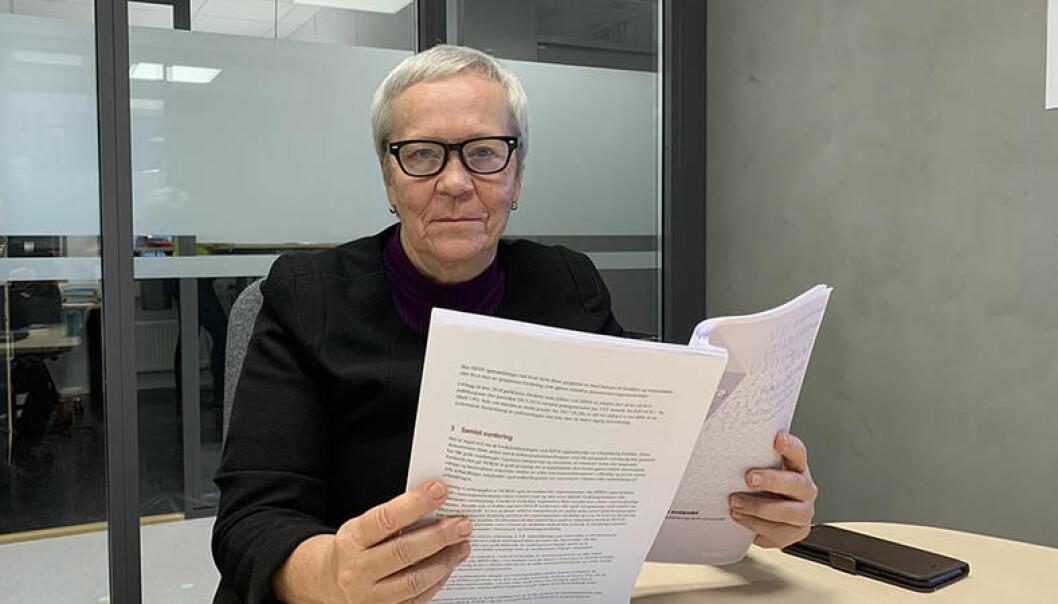 Rektor Kathrine Skretting ved Høgskolen i Innlandet er sterkt uenig i konklusjonen i rapporten fra Nokuts sakkyndige komité. Foto: HINN