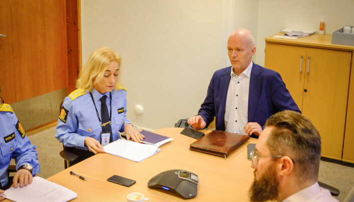 Rektor Nina Skarpenes og styreleder Hans Vik på styremøtet i dag. Foto: Torkjell Trædal