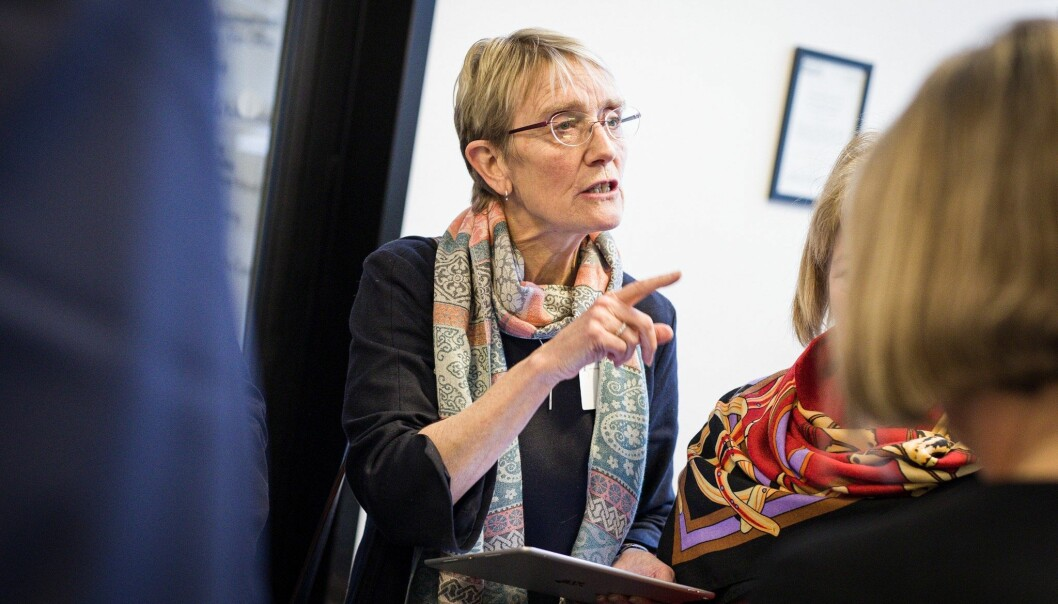 Rektor Anne Borgs universitet, NTNU, får 100 millionar kroner frå Equinor gjennom den gjeldande akademiaavtalen. Foto: Siri Øverland Eriksen