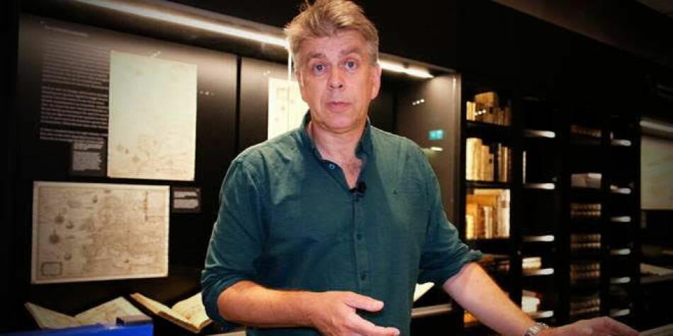 Erling Sandmo ledet Nasjonalbibliotekets kartsenter. Foto: Nasjonabiblioteket