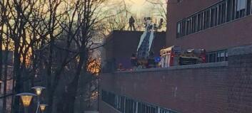 Brann i ventilasjonsanlegg på Blindern