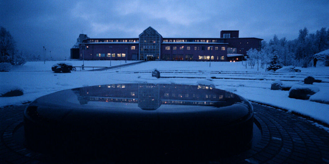 Administrasjonsbygget ved UiT Norges arktiske universitet. Foto: Ola Røe/UiT