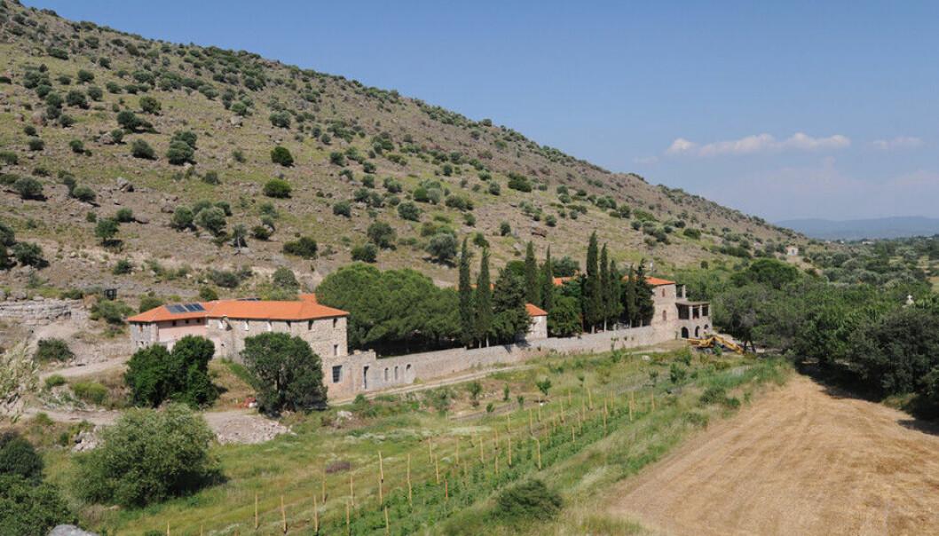 Universitetet i Agder har studiesenteret Metochi, som er en del av Limonos-klosteret på øya Lesbos. Foto: UiA