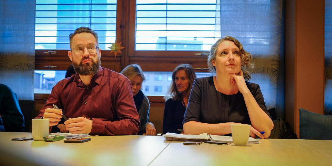 Henning Kaiser Klatran og Kristina Kepinska Jakobsen satt i høgskolestyret ved Politihøgskolen fram til torsdag ettermiddag. Da trakk de seg. Foto: Torkjell Trædal