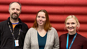 Geir Hareide Hansen (til venstre), Linda F. Martinussen og Trine Holmvåg håper mange vil benytte seg av det nye tilbudet. Foto: Nord universitet