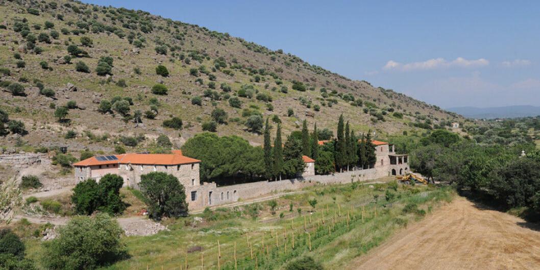 Universitetet i Agders studiesenter Metochi på den greske øya Lesvos. Foto: Uia