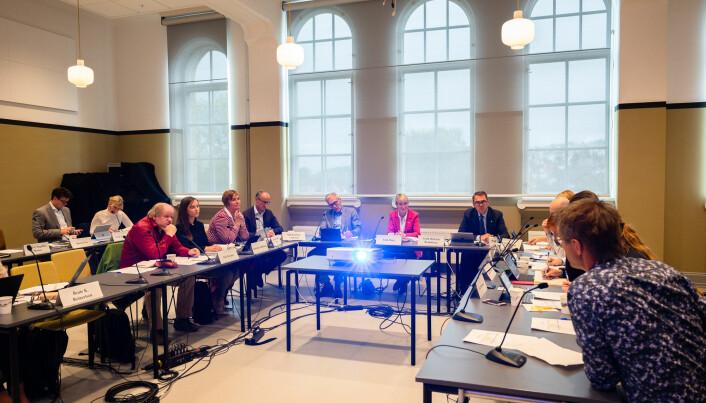 Klart for utskfitninger i styret ved NTNU, her fra et møte i september i år.