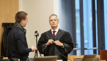 Studentenes advokat, Per Andreas Bjørgan, under tingrettssaken.