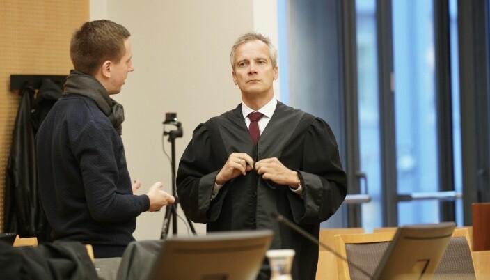 Advokat Per Andreas Bjørgan under tingrettssaken høsten 2019, som studentene tapte. Dommen er anket.