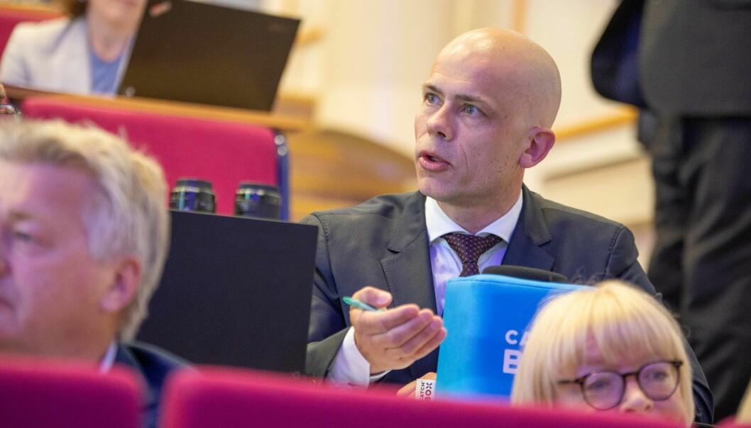 Rektor Lars-Petter Jelsness-Jørgensen, er fornøyd med at det ser ut til å går veien for kvalitetsarbeidet ved Høgskolen i Østfold.