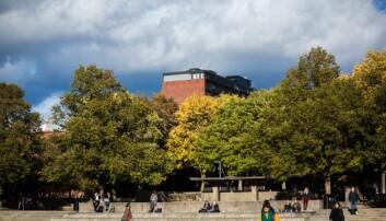 Studenter kan ta koronatest ute på Fredrikkeplassen på Universitetet i Oslo.