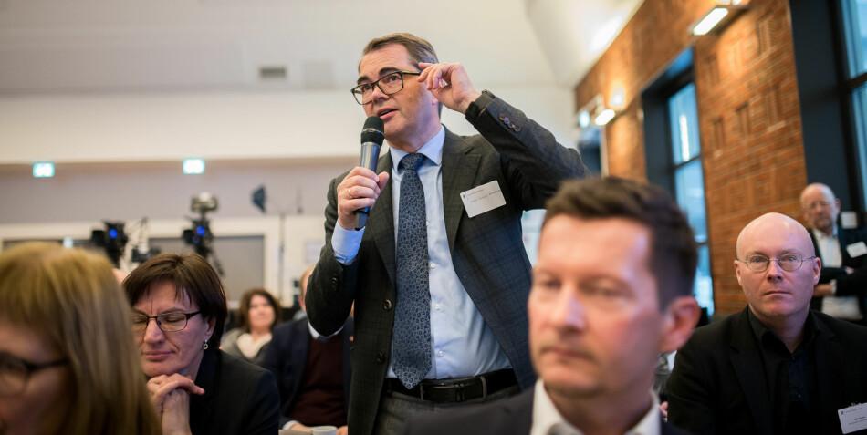 Styreleder ved NTNU Svein Richard Brandtzæg er uenig med UiO-rektor Svein Stølen og mener det er sunt at styreleder har et eksternt perspektiv. Foto: Skjalg Bøhmer Vold