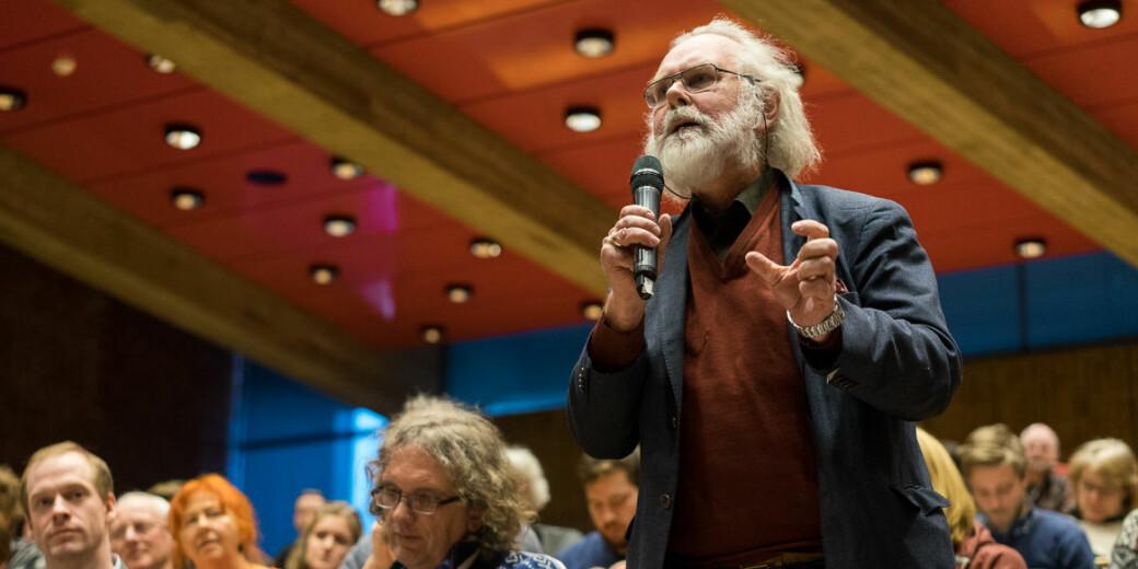 Forsker Nils Christian Stenseth, her avbildet under en prorektordebatt ved Universitetet i Oslo, har søkt om fem millioner kroner til å forske på koronaviruset.
