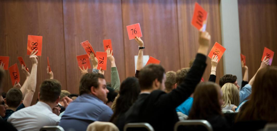 Tre varslingssaker har skapt sterk uro blant flere tillitsvalget i Norsk studentorganisasjon (NSO) på tampen av studieåret. Her et illustrasjonsbilde fra et tidligere landsmøte i organisasjonen.