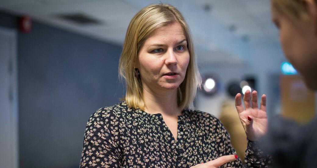 Kunnskapsminister Guri Melby (Venstre) offentliggjorde eksamensavgjørelsen mandag 8. februar. Dette bildet er fra en tidligere sammenheng.