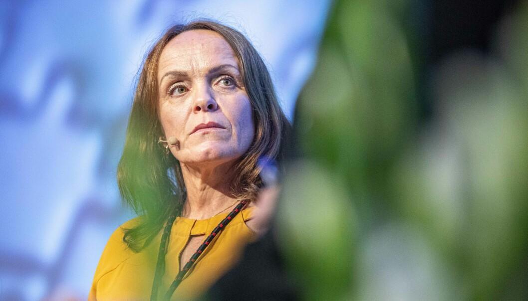 Prorektor for forskning ved Universitetet i Stavanger, Merete Vadla Madland, forklarer at konsulentselskapene skal bistå universitetet med forskningssøknader for UiS skriver flere søknader enn før.