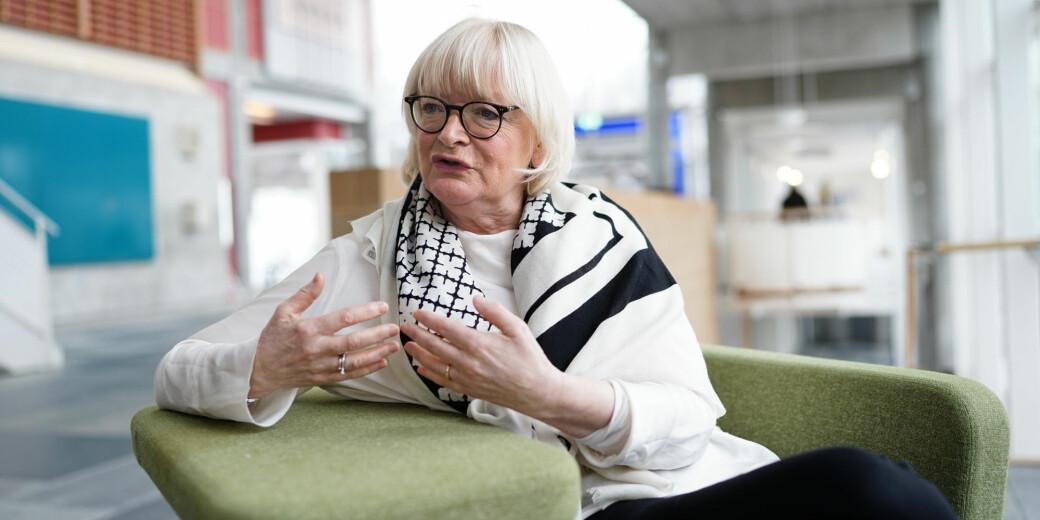 Rektor ved Høgskulen på Vestlandet, Berit Rokne, her avbildet i forbindelse med et representantskapsmøte i Unviersitets- og høgskolerådet på Lillehamer, forbereder seg på at smittetallet ved HVL kan øke gjennom helgen.