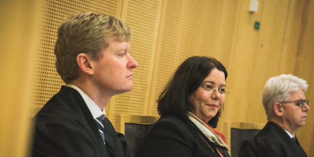 Roya Sabetrasekh anket saken mot Universitetet i Oslo til Høyesterett. Her avbildet under behandlingen av saken i Oslo tingrett i 2018.