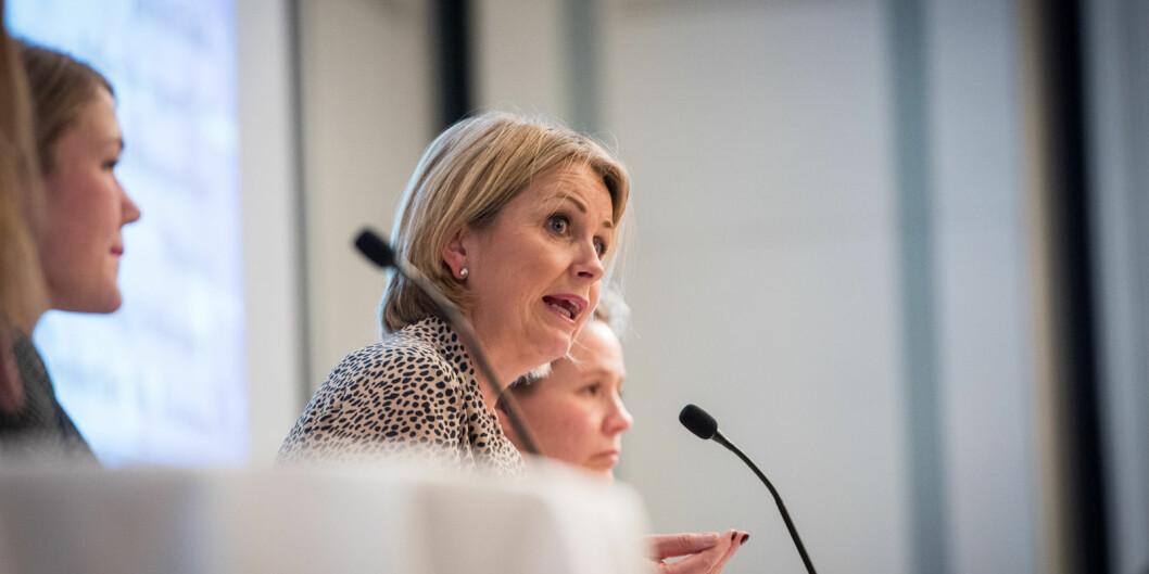 Kristin Vinje (H) på Forskningspolitisk seminar.