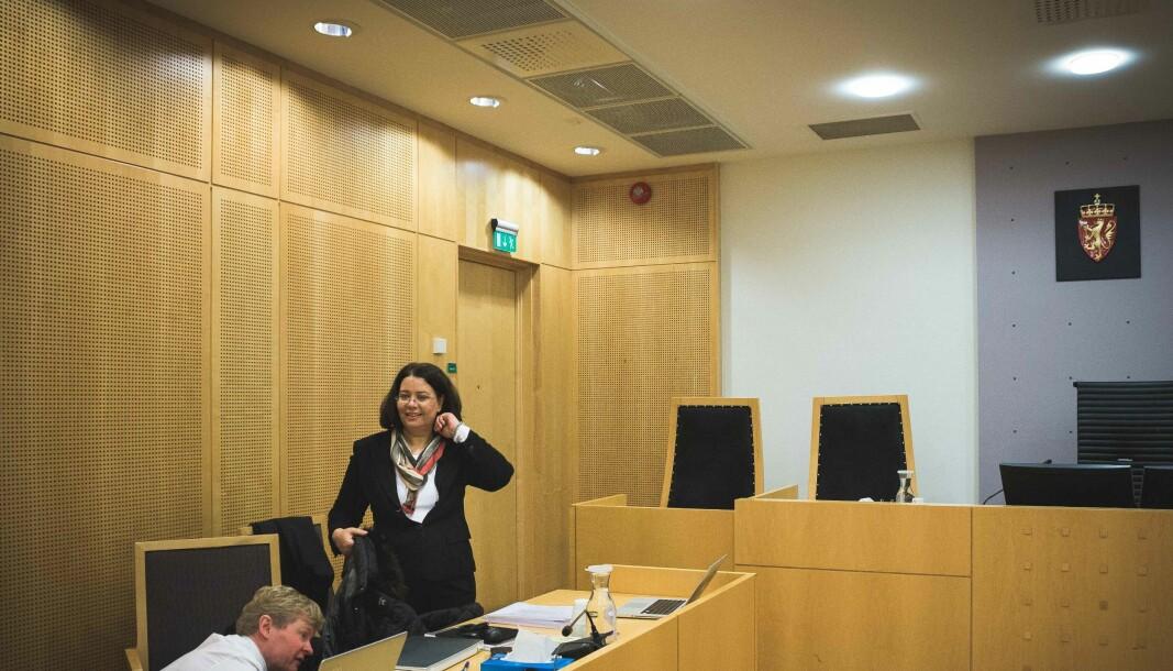 Roya Sabetrasekh i tingretten i 2018 der hun tapte. Saken endte i Høyesterett der tapet var et faktum i oktober 2020.