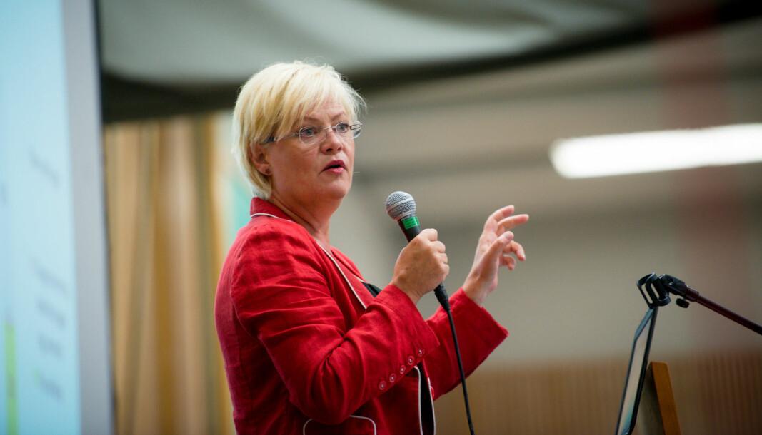 Cicero-direktør Kristin Halvorsen tror det er viktig med mangfold i instituttsektoren.
