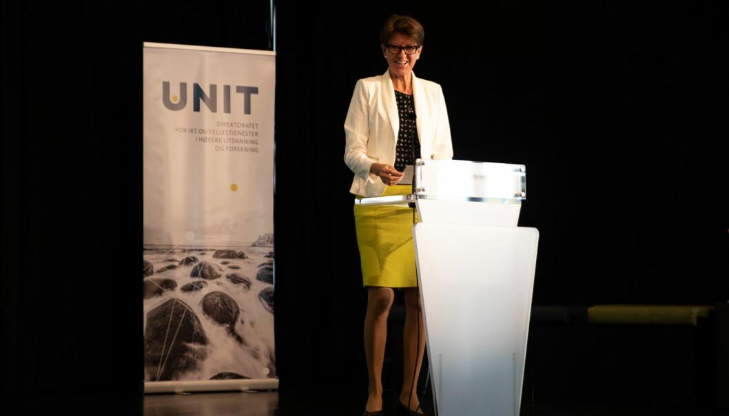 Prorektor for utdanning ved UiT, Wenche Jakobsen, var med da opptakstallene ble presentert i 2020. Nå venter hun spent på de nasjonale tallene som kommer fredag.