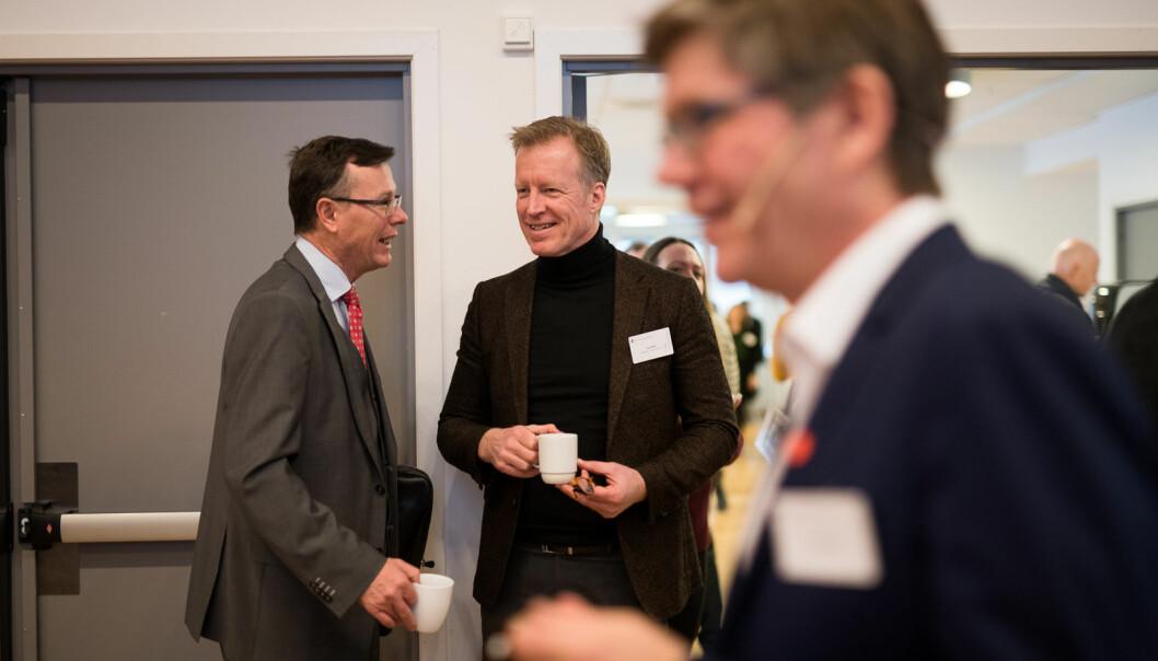 UiT-rektor Dag Rune Olsen, NMBU-rektor Curt Rice og UiO-rektor Svein Stølen har høye forventninger til en ny regjeringsplattform.