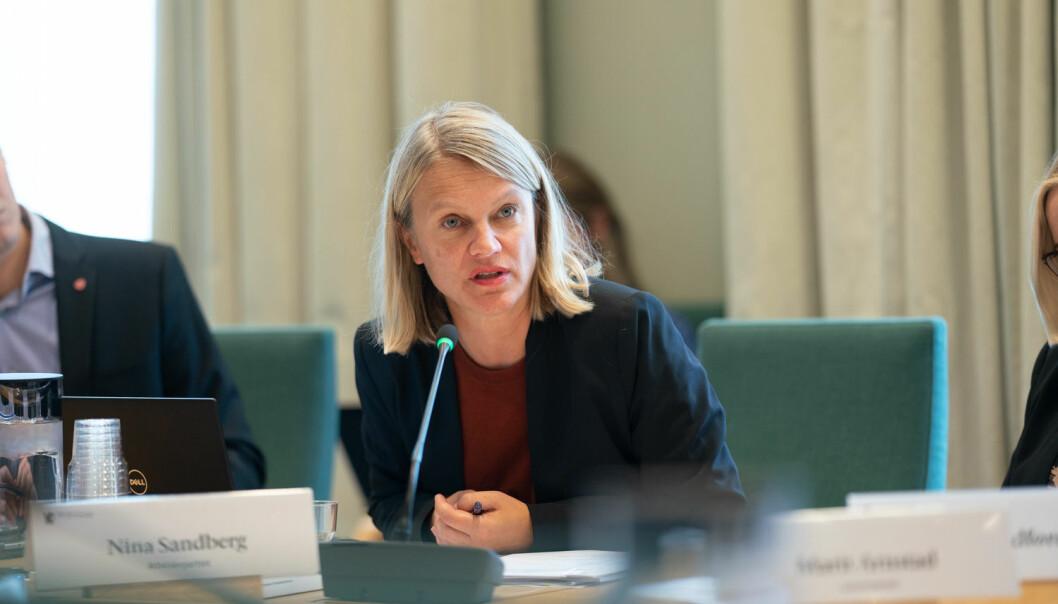 Stortingsrepresentant Nina Sandberg har bakgrunn som forsker og sitter i Utdannings - og forskningskomiteen for Ap.