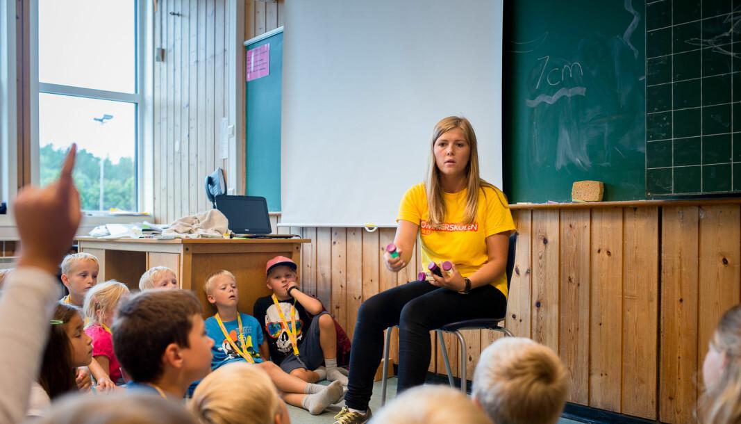 Sunniva Braaten er tidligere lærerstudent, her i et arkivbilde fra en tidlig jobb ved sommersolen i Oslo.