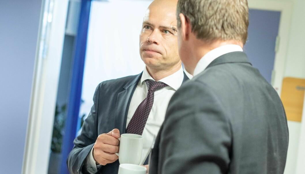 Lars-Petter Jelsness-Jørgensen, rektor ved Høgskolen i Østfold, har flere eksamener som skal gjennomføres tidlig i januar på campus. — Dette endrer vi ikke på, sier han.
